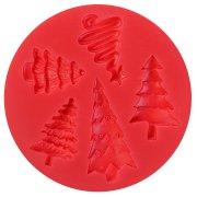 Stampo per Stampe Motivo di Alberi di Natale - Silicone