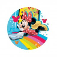 Disco Minnie Rainbow (18,5 cm) -Senza zucchero / senza glutine / senza olio di palma