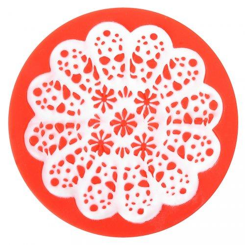 Stampo per impronte Fiori rosone (7,5 cm) - Silicone