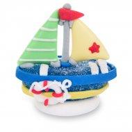 1 Barca a vela 3D (5 cm) - Zucchero gelificato
