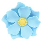 1 Grande nasturzio blu 3D (5 cm) - Pasta di zucchero