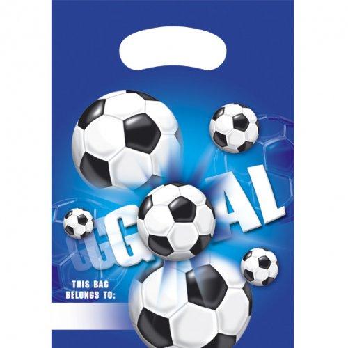 6 Sacchetti regalo Goal Azzurro