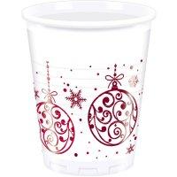 Contiene : 1 x 8 Bicchieri Palle di Natale