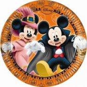 8 Piattini Topolino e Minnie Halloween