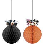 2 sfere deco Topolino e Minnie Halloween