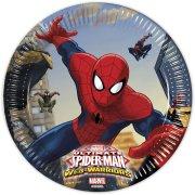 8 Piattini Spiderman Web-Warriors