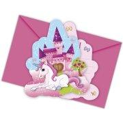6 Inviti Unicorno incantato