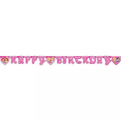 Ghirlanda lettere Happy Birthday Principesse Disney Dreaming