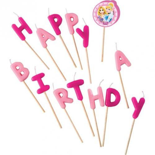 Candele Lettere Happy Birthday Principesse Disney
