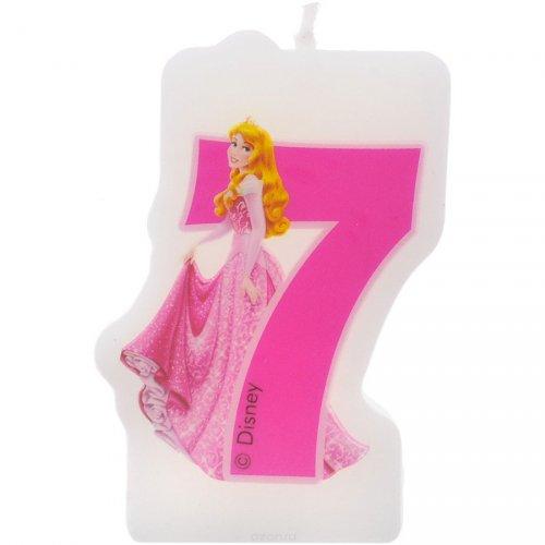 Candela numero 7 Principesse Disney