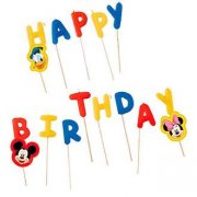 14 Mini Candele Happy Birthday Mickey