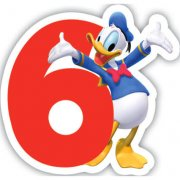 Candela numero 6 Mickey - Donald Club