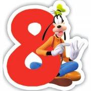 Candela numero 8 Mickey - Dingo Club