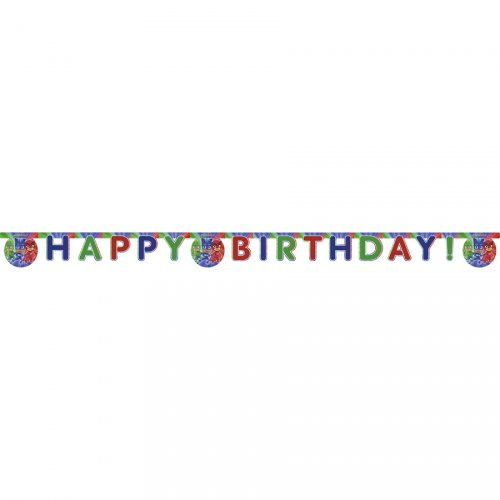 Ghirlanda lettere Happy Birthday Pj Masks