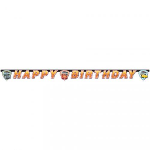 Ghirlanda Happy Birthday Cars 3
