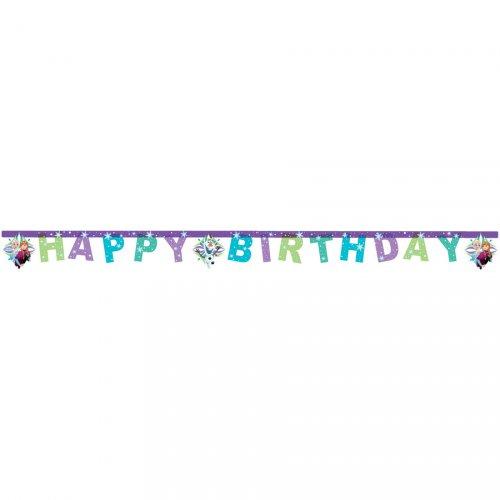 Ghirlanda Happy Birthday Regina delle nevi Frozen