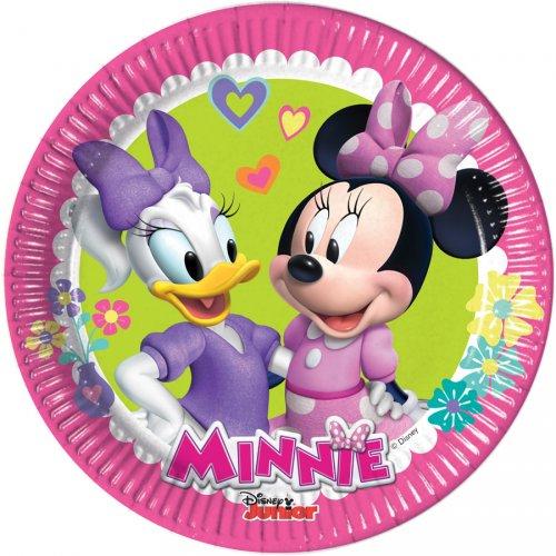 8 Piattini Minnie Happy