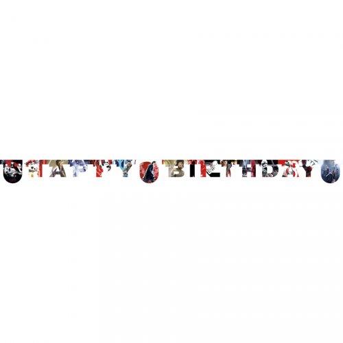 Ghirlanda lettere Happy Birthday Star Wars Gli ultimi Jedi (2 m) - Cartone