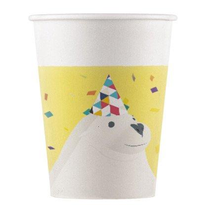 8 Bicchieri Animali Polari