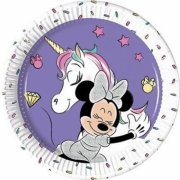 8 Piattini Minnie Unicorno