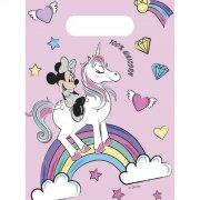 6 Sacchetti regalo Minnie unicorno