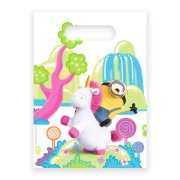 6 Sacchetti regalo Minions unicorno