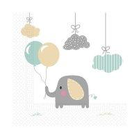 Contiene : 1 x 20 Tovaglioli Elephant Baby