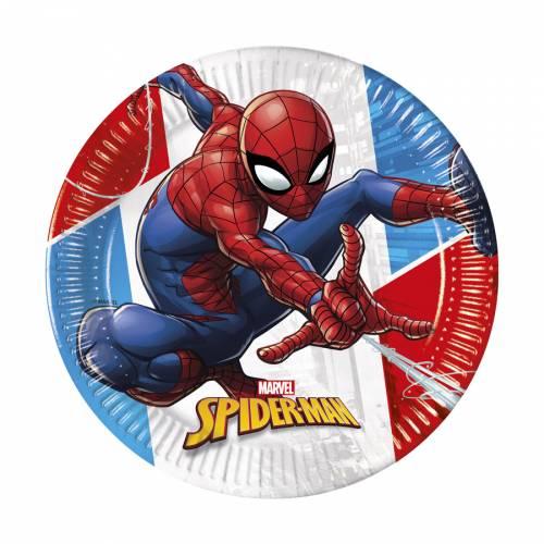 8 Piatti Spiderman - Compostabile