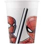 8 Bicchieri Spiderman - Compostabile