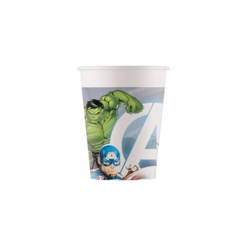 8 Bicchieri Avengers - Compostabile
