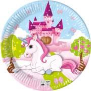8 Piatti Unicorno - Compostabile