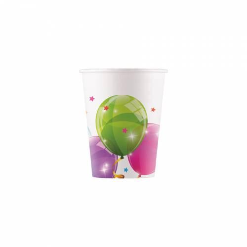8 Bicchieri Palloncini - Compostabile