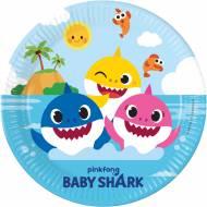 8 Piatti Baby Shark - Compostabile