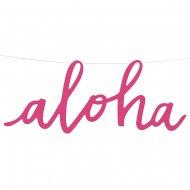 Banner lettere Aloha (47 cm)