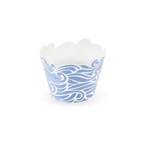 6 Wrapper per cupcake Oceano Ahoy