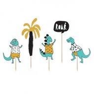 """5 Maxi stecchini decorativi """"Dino Party Tropic"""""""