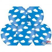 50 Palloncini Nuvole Baby Cielo - Blu
