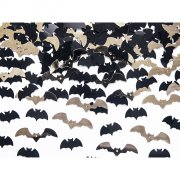 Coriandoli pipistrelli nero/oro (15 g)