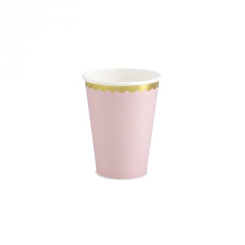 6 Bicchieri Baby Rosa/Oro
