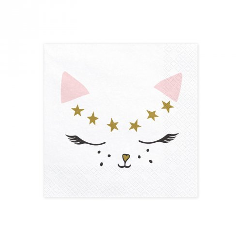 20 Tovaglioli Signorina Gatto (Mademoiselle Chat)