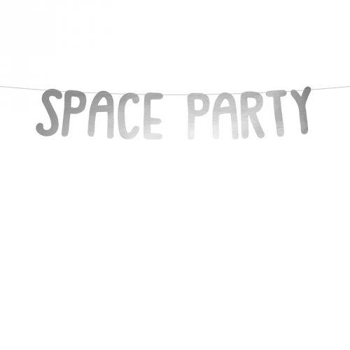Ghirlanda Space Party argento (96 cm)