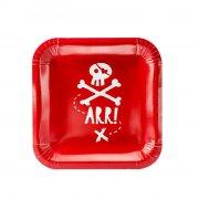 6 Piatti Il Pirata Rosso