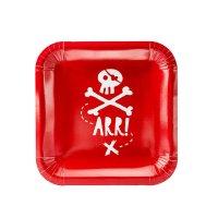 Contiene : 1 x 6 Piatti Il Pirata Rosso