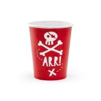 Contiene : 1 x 6 Bicchieri Il Pirata Rosso