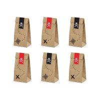 Contiene : 1 x 6 Sacchetti regalo Il Pirata rosso (18 cm) - Kraft
