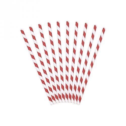 10 cannucce a strisce bianco/rosso - Pirata Il Rosso