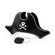 Cappello + Benda per occhio Pirata - Cartone