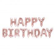 13 Palloncini Lettere Happy Birthday Rosa Gold (3,4 m)