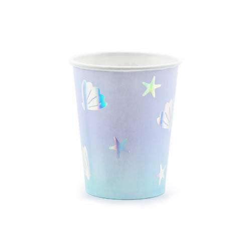 6 Bicchieri Conchiglia - Oceano Iridescente
