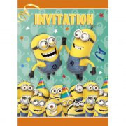 8 Inviti Minions Birthday